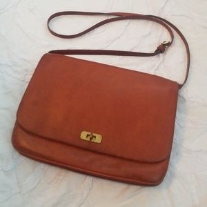 J. Crew Tan Leather Crossbody Bag